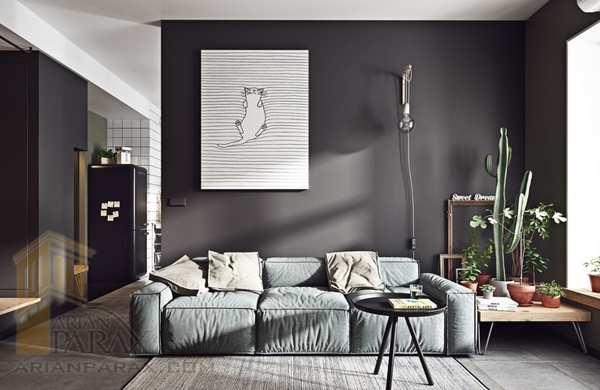 رنگ پیشنهادی برای پذیرایی،بهترین رنگ برای دیوار خانه
