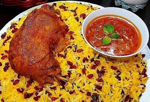 طرز تهیه زرشک پلو با مرغ مجلسی به سبک رستوران