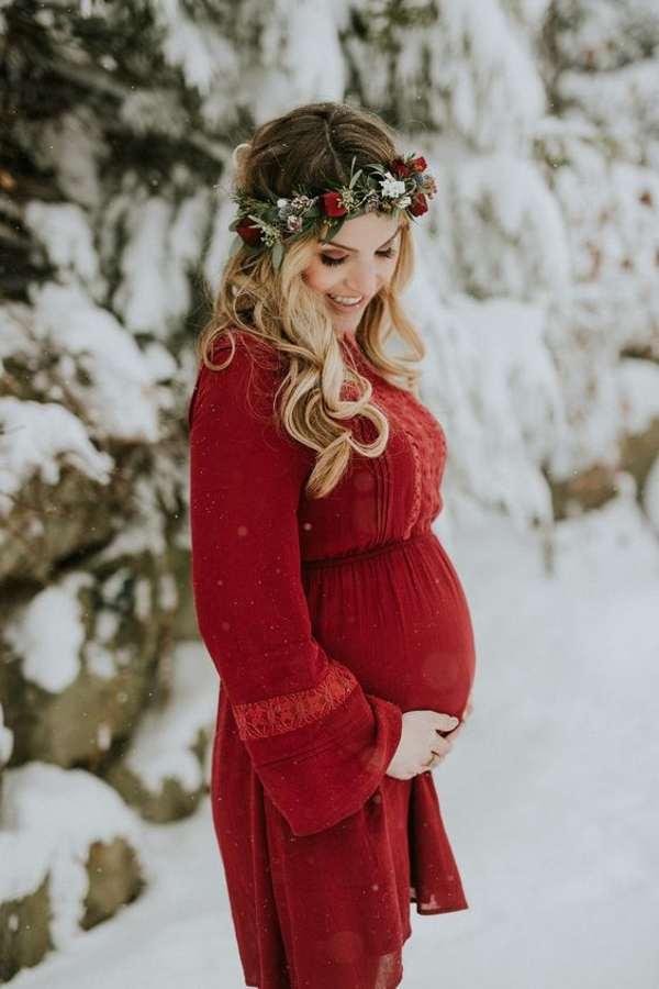 ژست عکس بارداری تکی و با همسر